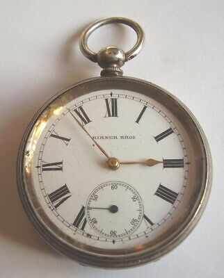 Antique Silver Pocket Watch Working Order 4 Small Repair Hallmarked London 1883