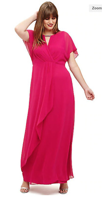 Bnwt Phase Eight Studio 8 Destiny Pink Maxi Dress Ballgown Size Uk 16 Rrp £140