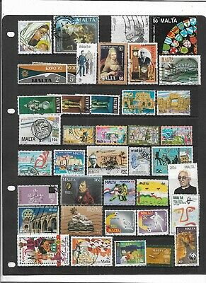 Malta  Qe2  All Different Used Colourful  Collection