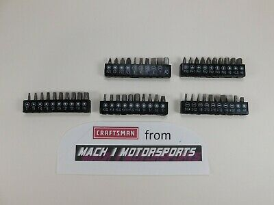 CRAFTSMAN 50 pc Screwdriver BITs Nut Driver Torx HAND TOOLS SET Ratcheting - Reg