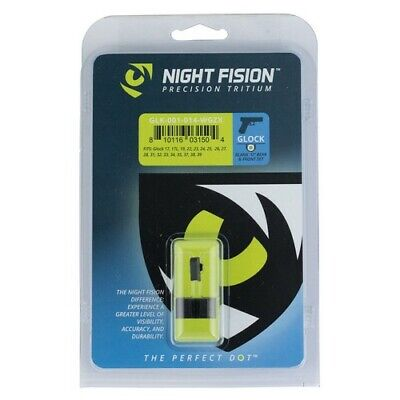 Night Fision GLK001014WGZ Night Sight Set Green Tritium Front W/ White Outline