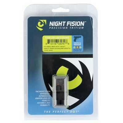 Night Fision SAW201003OGW Night Sight Set Green Tritium For S&W M&P
