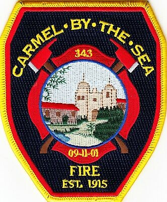 CALIFORNIA  -  CARMEL BY THE SEA  FIRE DEPARTMENT  Patch    ~NEW STYLE~!