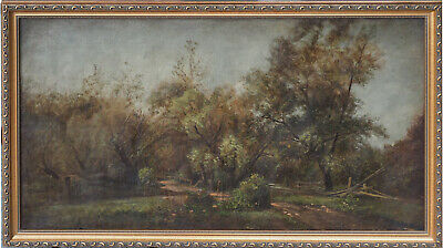 Long Island New York landscape antique oil painting by Charles Henry Miller