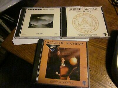 Lot of 3 Used Acoustic Alchemy CD's. Early Alchemy, Natural Elements, Self Title