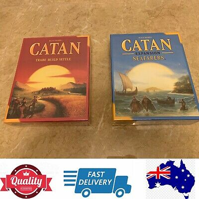 Settlers of Catan 5th edition main game or Catan Expansion Seafarers, AU stock