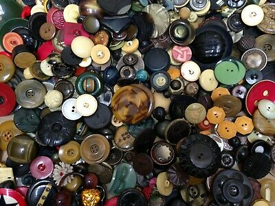 Vintage 2 Pound 7 Ounce Mixed Estate Found Lot Of Celluloid Buttons