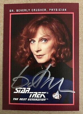 Gates McFadden AUTHENTIC HAND SIGNED Sports Card Star Trek TNG Beverly Crusher
