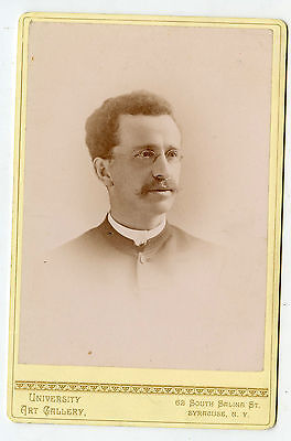 Cabinet Photo - Syracuse, New York - Xmas, 1888 - Young Man, Glasses Id'd