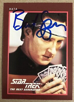 Brent Spiner AUTHENTIC HAND SIGNED Sports Card Star Trek TNG Data
