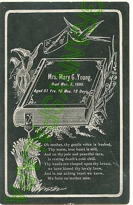 Remembrance Card - Funeral YOUNG Family 1898 (Mary)