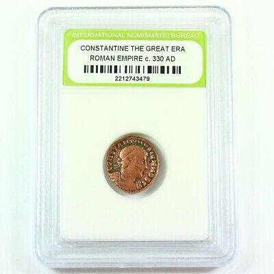 Slabbed Ancient Roman Constantine the Great Coin c. 330 AD Exact Coin Shown 2065