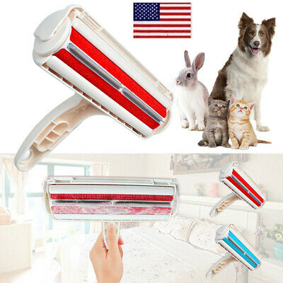 Pet Dog Cat Reusable Hair Remover Fur Roller Sofa Clothes Cleaning Brush Comb OC