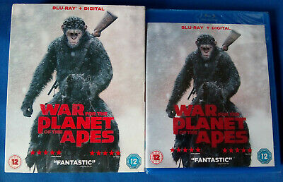 War For The Planet Of The Apes (2017) Blu Ray + Ultraviolet * New * Sealed *