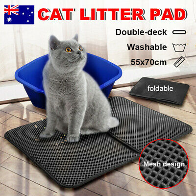 Waterproof Comfort Double-Layer Cat Litter Mat Trapper Foldable Pad Pet Home Rug