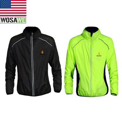 Men/'s Cycling Jackets Anti-UV Windproof Long Sleeve Bicycle Coat Hooded Green