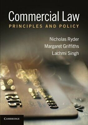 Commercial Law by Ryder  New 9780521758024 Fast Free Shipping#*