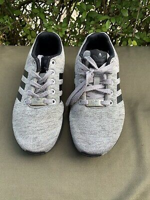 Adidas Womens Men's Unisex Grey With Black Shoes Trainers Uk Size 3.5 Eur 36