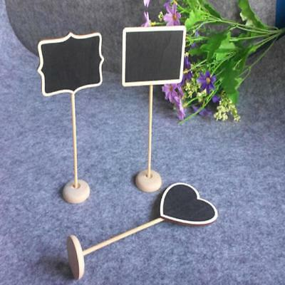 Mini Message Blackboard Note Sign Message Chalk Board Table Top LE