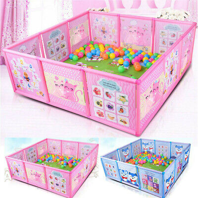 New Baby Cartoon Children Foldable Playpen Kids Safety Play Fence Game Toddler