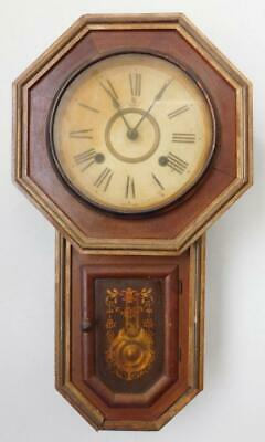 Wall Mounted Chiming Case Clock with Pendulum 1900s Japan A/F for restoration