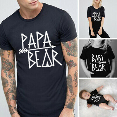 Couple T-Shirt Papa Mama Kids Baby Bear Love Matching Shirts Family Tee Tops