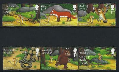 Great Britain 2019 The Gruffalo  Set Of 6 In 2 Strips Of 3 Fine Used