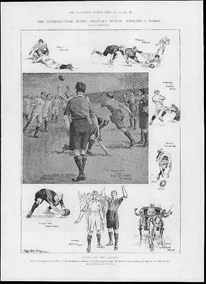 1902 Antique Print - SPORTS Rugby Football England Wales Rectory Field   (416)