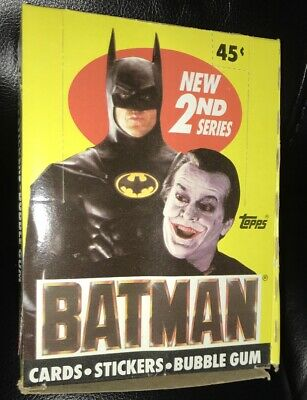 Batman 2nd Series Movie Cards, Stickers, Bubble Gum Box by Topps 1989 (36 count)