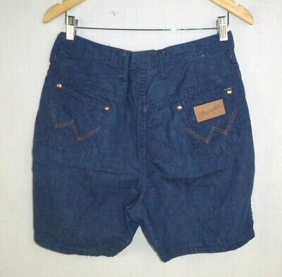 Vtg 70's Wrangler High Waist Blue Jean Shorts Denim Size 18