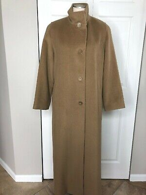 Cinzia Rocca Belted Wool Coat  Taupe 4L2290D4  NWT
