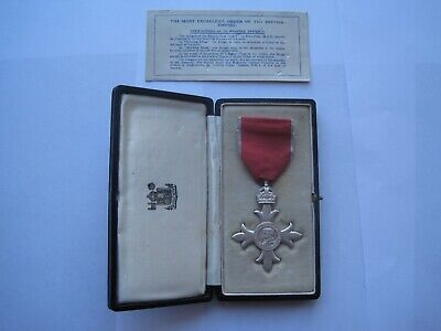 Most Excellent Order Of The British Empire Medal,Mbe,Cased,Excellent Condition