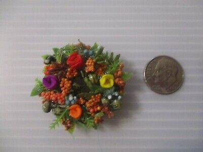 Miniature doll/dollhouse TINY TINY Autumn wreath 1""