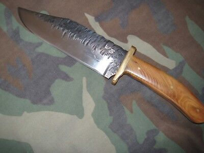 Hand Forged Knife - Locally Made - One of a Kind - High Carbon Steel Bowie Style