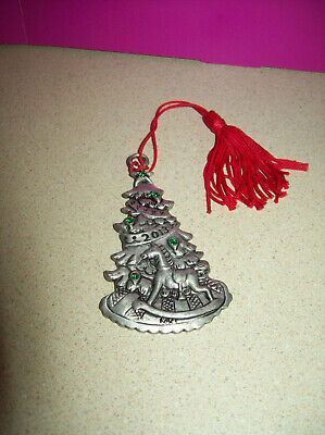 Avon Pewter Christmas Ornament 2013 with Box