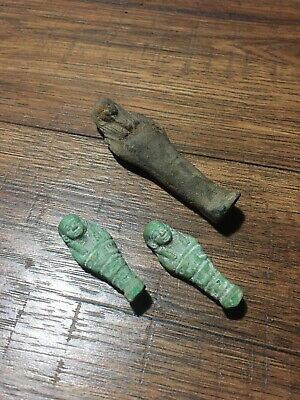 Egyptian Small Mummification Egyptian Statues X3