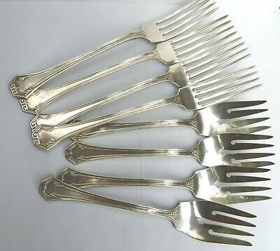 LOT  Reed & Barton POMPEIAN Silver Plated Flatware - 1930 - Forks