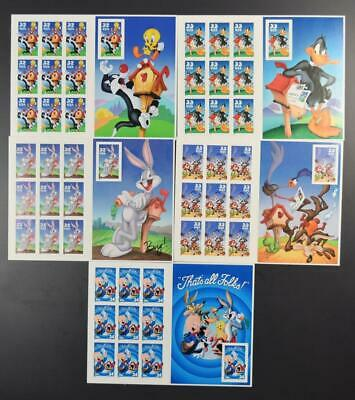 Us Postage Lot 5 Different Looney Tunes Sheets Of 10 3137 // 3534 (Imperf???)