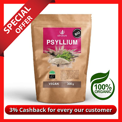 Organic Psyllium Husk Powder Natural Fibre Dietary IBS Colon Cleanse Weight Los
