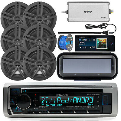 "CD Bluetooth Receiver, Cover, 4x 6.5"" Speakers, SiriusXM Commander, Antenna,Wire"
