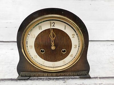 Vintage SMITHS Wooden Chiming Mantel Clock Pendulum UNTESTED  - E34