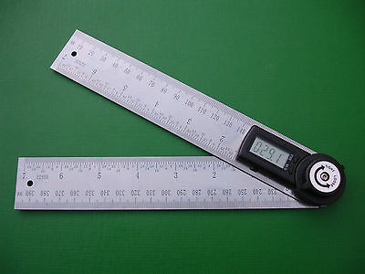 2-in-1 Stainless Steel Digital Angle Finder & Ruler