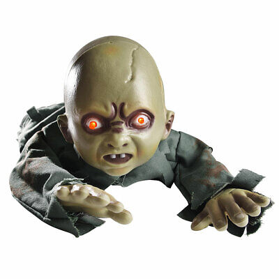 Animated Crawling Baby Zombie Scary Ghost Baby Doll Haunted Halloween D¨¦cor