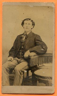 CDV Belvidere, NJ, Portrait of a Young Man, by Ketchledge, circa 1860s Backstamp
