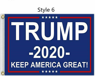 10Pcs Wholesale 2020 Trump President Flags Keep America Great Flag 3x5ft Banner