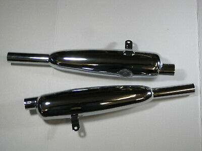 Silencer Muffler Set for Triumph 3TA//5TA//T90//T100 71-2017//8