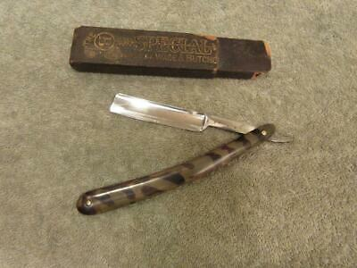 Antique Wade & Butcher Straight Razor W/ Tortoise Shell Handles
