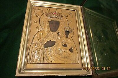 Antique Religious Russian Icon - 19th Century