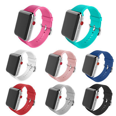 38/42mm Replacement Silicone iWatch Band Sport Wrist Strap for Apple Watch 1/2/3