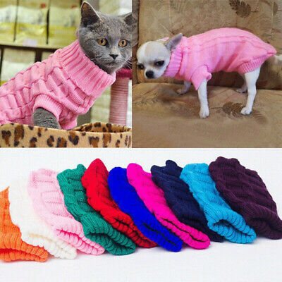 Pet Dog Knitted Warm Jumper Pullover Sweater Small Dog Chihuahua Clothes Outwear
